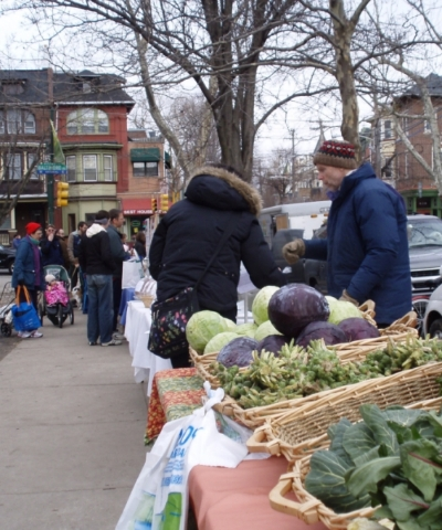 Clark Park winter farmers market