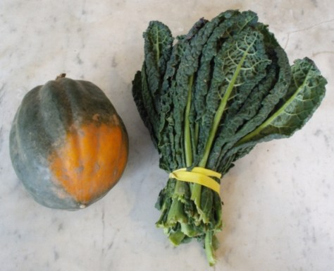 acorn squash and lacinato kale