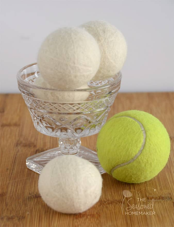 Learn How to Wool Make Dryer Balls - why is there fuzz on a tennis ball