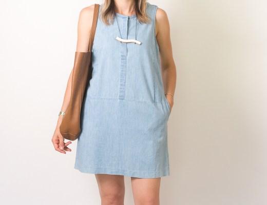 Seasons + Salt Everlane Chambray Dress-3
