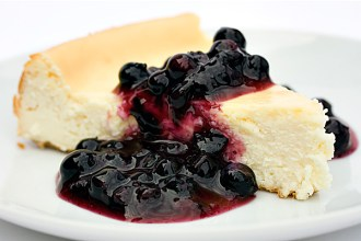 Cheesecake with Wild Ontario Blueberry Sauce
