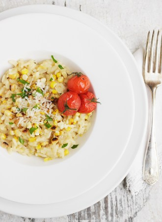 Grilled Corn Risotto