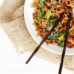 15 Minute Spicy Udon Noodle and Vegetable Stir Fry