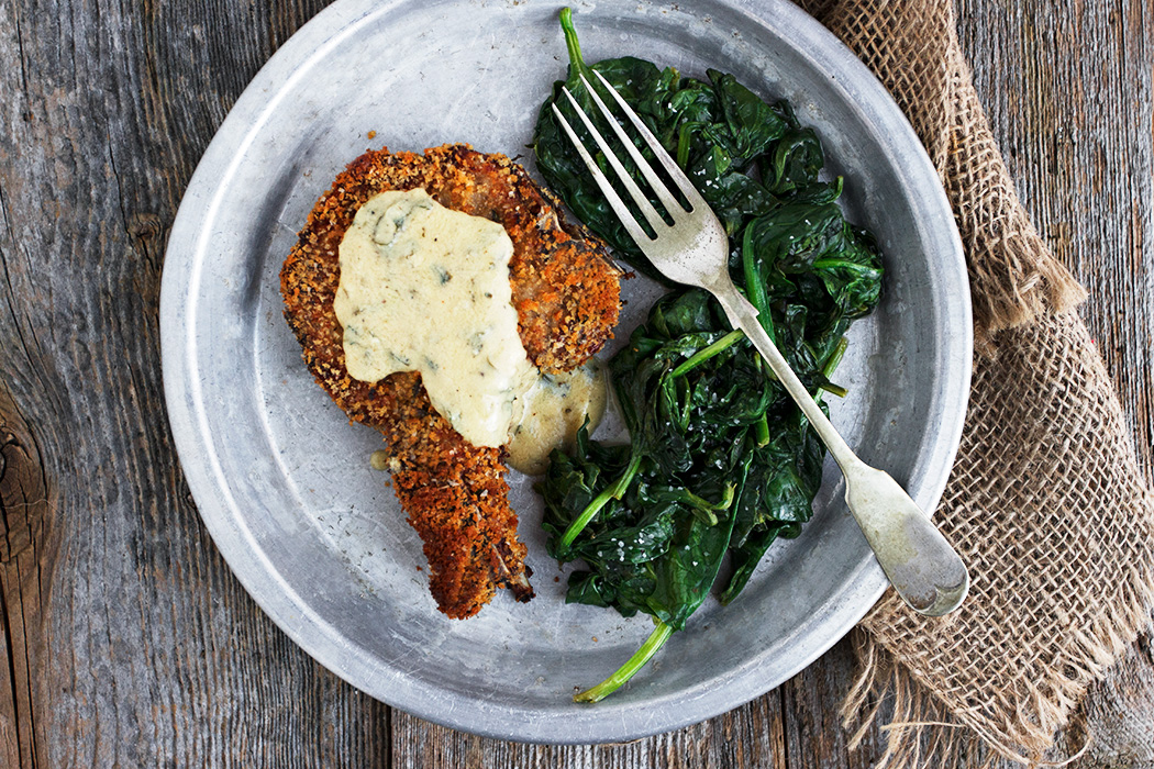 Crispy Breaded Pork Chops with Mustard Sauce - Seasons and Suppers