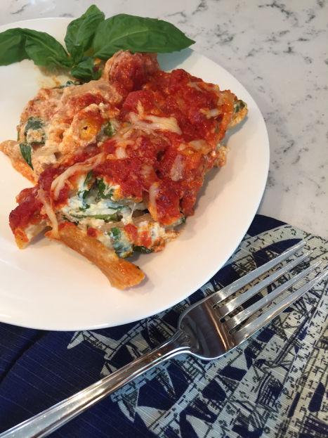 Basil Ricotta Lasagna Pasta serving (A Seat at the Table)