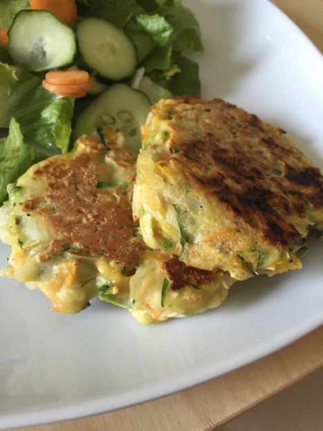 Zucchini Carrot Fritters with Basil (A Seat at the Table)