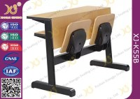 Oval Steel Tube Folding College Classroom Furniture / Wood ...