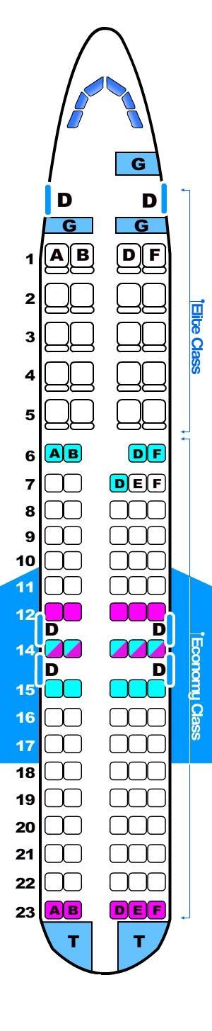 Seat Map Boeing B717 SeatMaestro