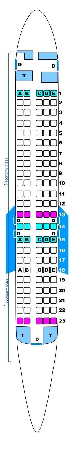 Seat Map Spanair Boeing B717 SeatMaestro