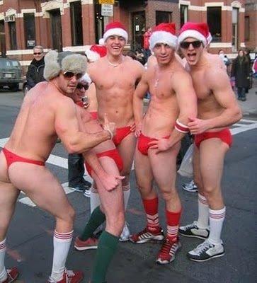 gay male santa model