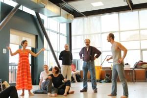 In rehearsal for Antony and Cleopatra