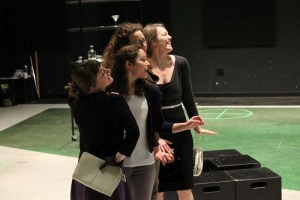 Allie Pratt as Maria, Kayla Lian as Rosaline, Samara Lerman as the Princess of France, and Rebecca Olson as Katharine.