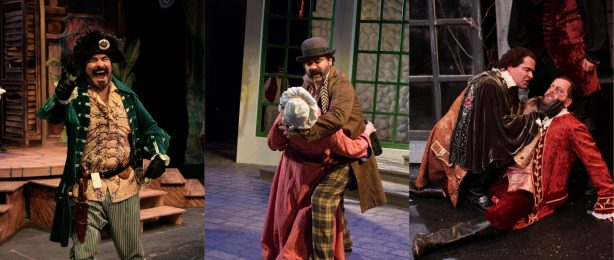 "Ray Gonzalez in Seattle Shakespeare Company's productions of ""The Comedy of Errors"" (2007), ""Twelfth Night"" (2009), and ""As You Like It"" (2012)."