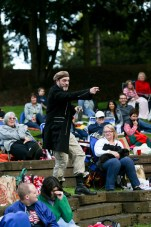 "Mike Dooly as Stephano in Seattle Shakespeare Company's 2013 Wooden O production of ""The Tempest."""