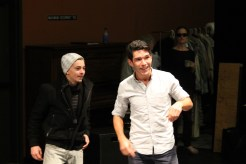 "Christopher Morson as Conrade and Noah Greene as Borachio in rehearsal for ""Much Ado About Nothing."""