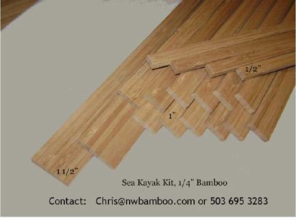 Sea Kayak Bamboo Kit