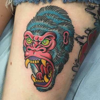 gorilla tattoos!, gorilla tattoo, jason walstrom tattoos, minneapolis tattoo shops, minnesota tattoo shops, traditional tattoo, traditional tattoos