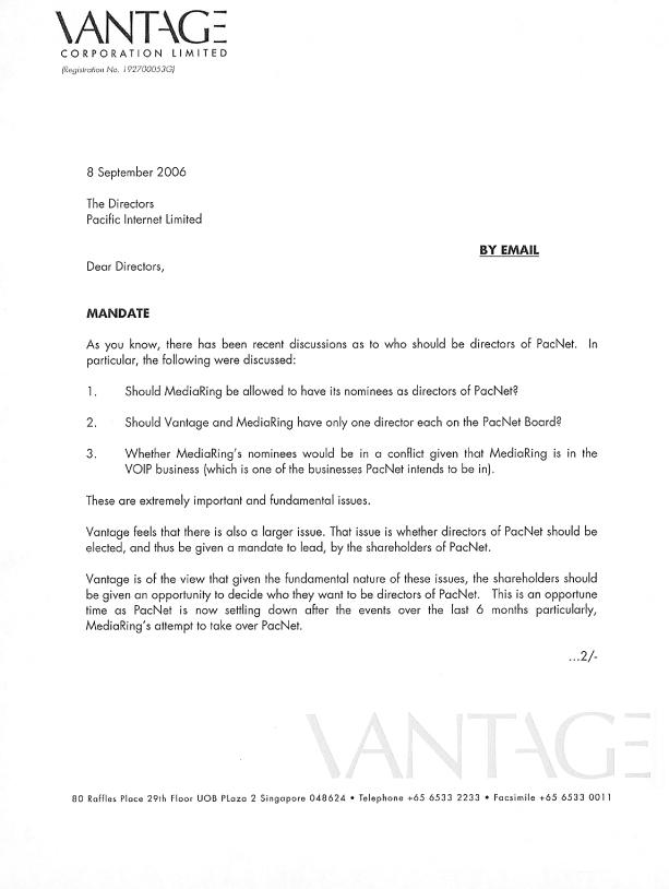 FORM 6-K - letter of requisition