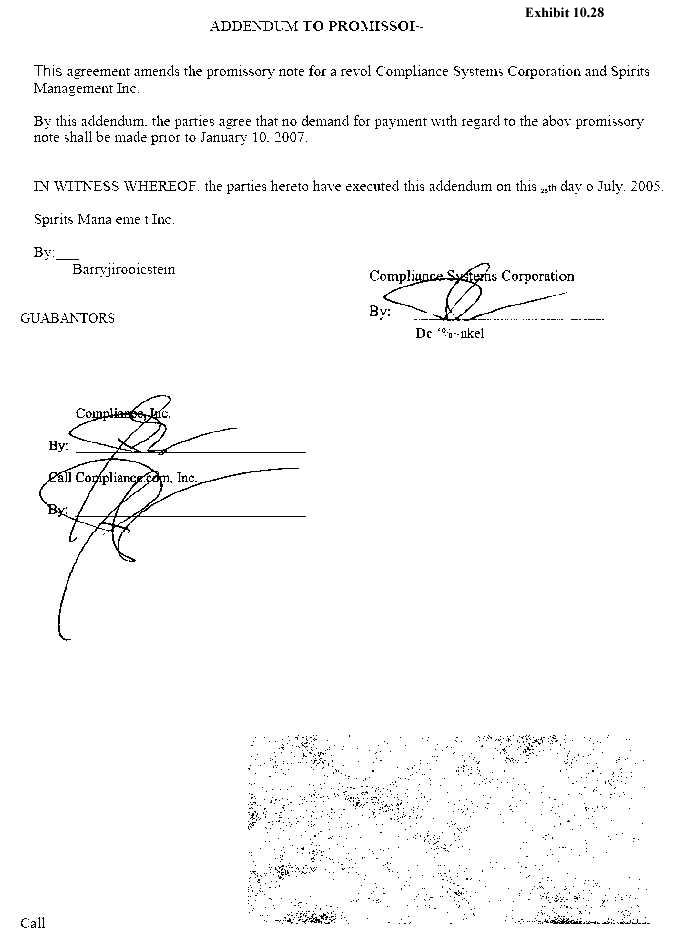 Addendum to Promissoi~ Addendum to Promissory Note by SeanieMac - parties of promissory note