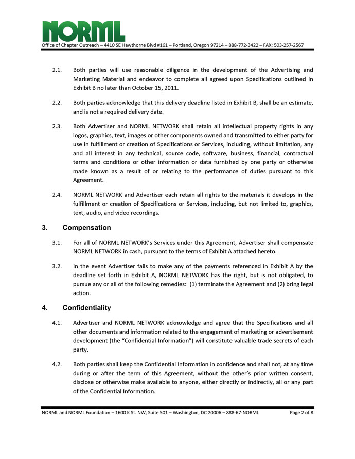 Management Agreement Onecle  Job Description For Resume Sales