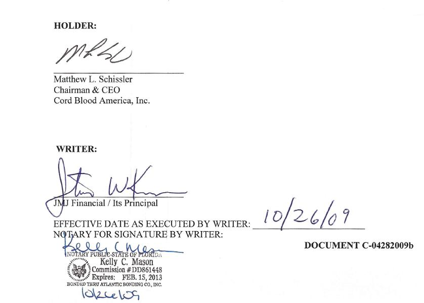 Secured \ Collateralized Promissory Note - Cord Blood America Inc - convertible note agreement template