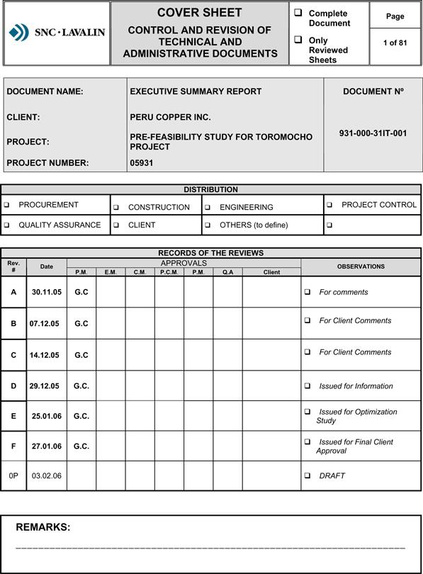 sample feasibility report - fototango
