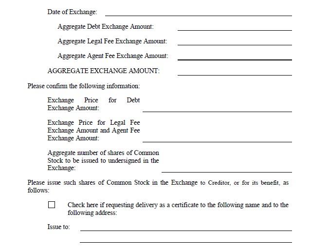 Master Exchange Agreement by Petron Energy II, Inc