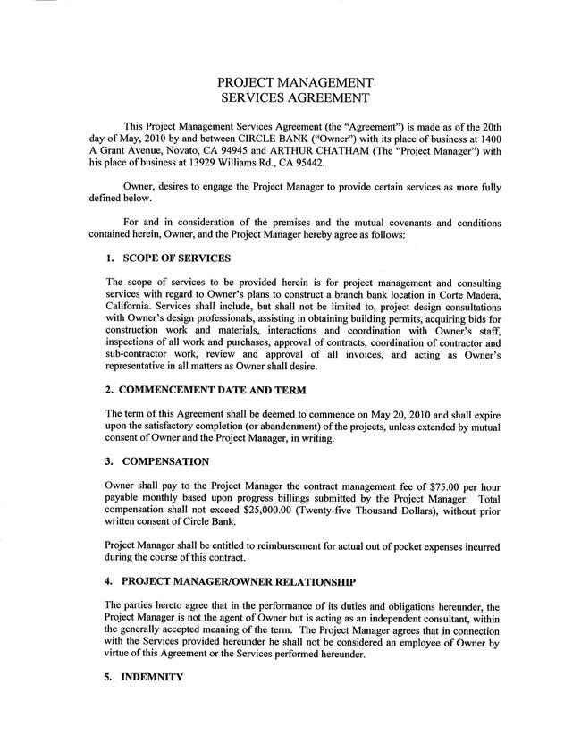 Contract Management Agreement Management Agreement Contract Sample - contract management agreement