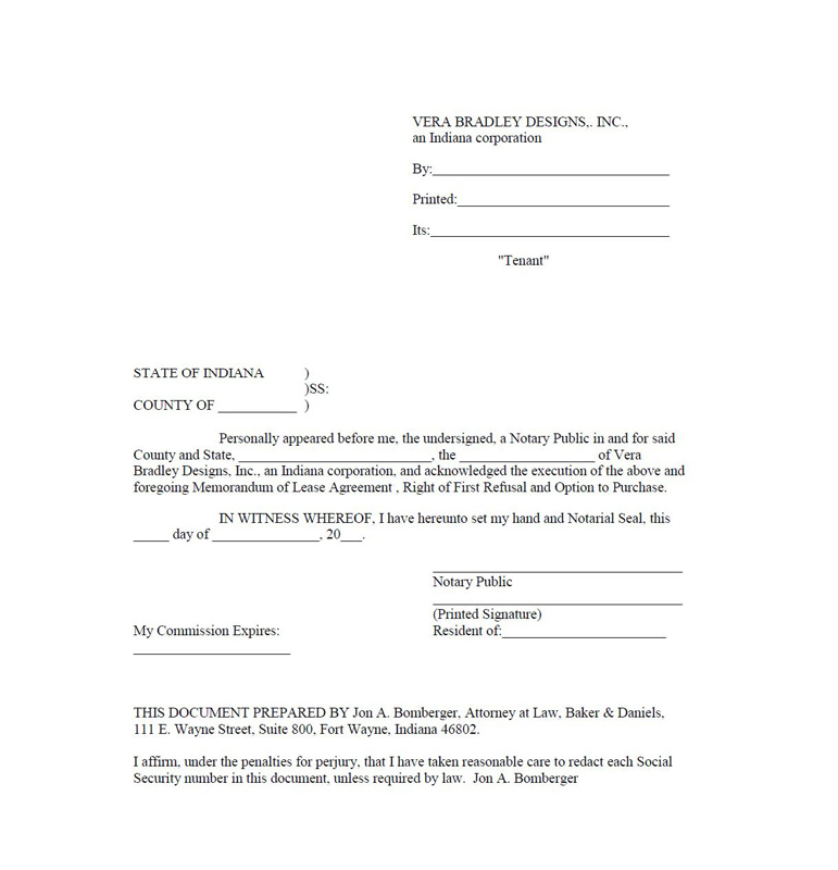 Lease Agreement, dated as of March 28, 2011