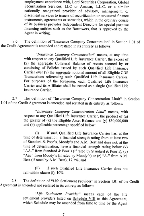 Consent and Amendment No 1 to Credit and Security Agreement