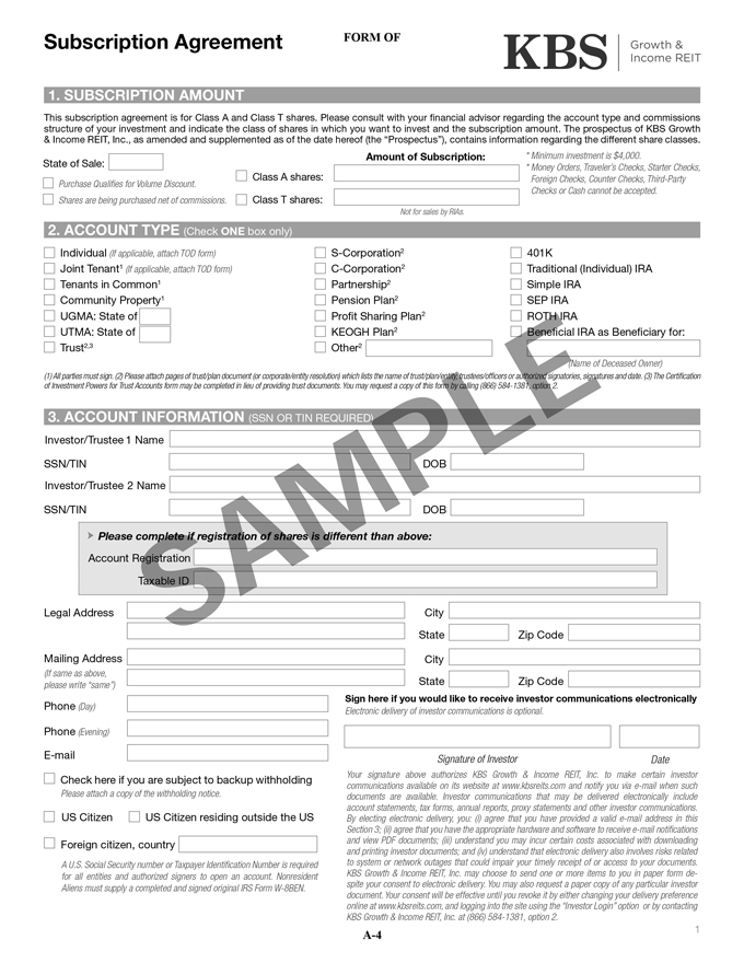 S-11/A - what is the advisor invitation verification form