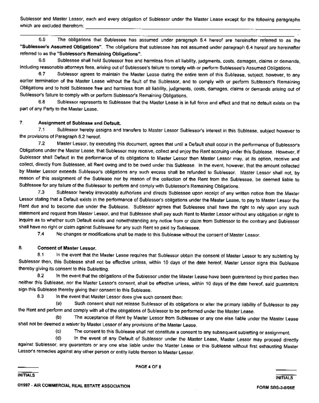 Master Lease Agreement Master Lease Agreement No 1247, Master Lease