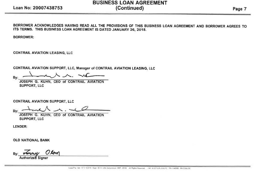 Promissory Note and Business Loan Agreement by Air T, Inc
