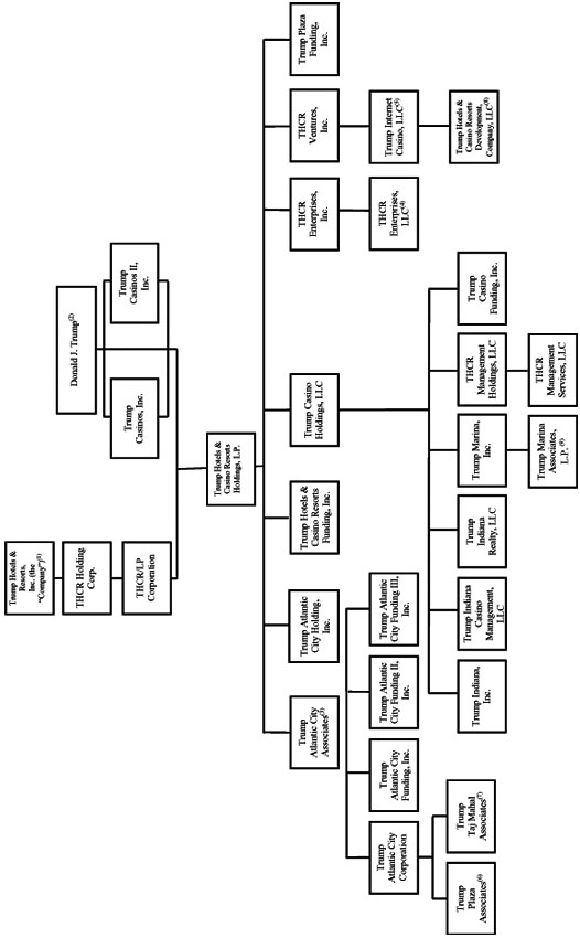 Pre-Reorganization Corporate Structure Chart of the Debtors