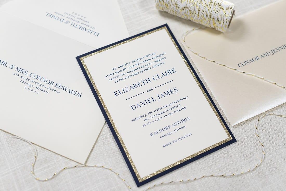 Captivating G Wedding Stationery G Navy Panel Pocket Wedding Invitation Suite City Stationery Invitations Navy Panel Pocket Wedding Invitation Suite wedding invitation Pictured Wedding Invitations