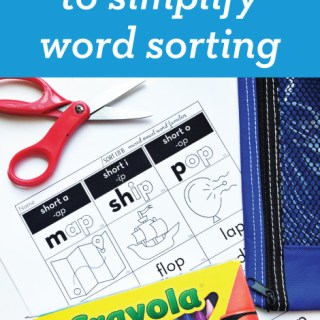 1 Easy Trick to Simplify Word Sorting