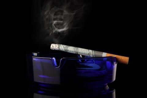 smoking burns money