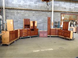 Walnut Cabinet Set #414535
