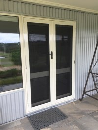 Security French Hinged Screen Doors Steel Mesh
