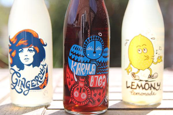 karma cola bottle design close up