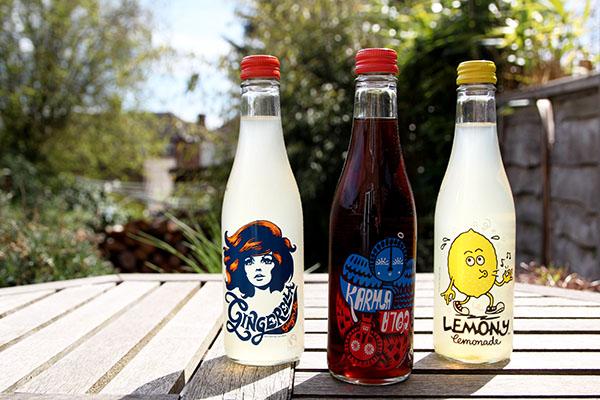 three bottles karma cola