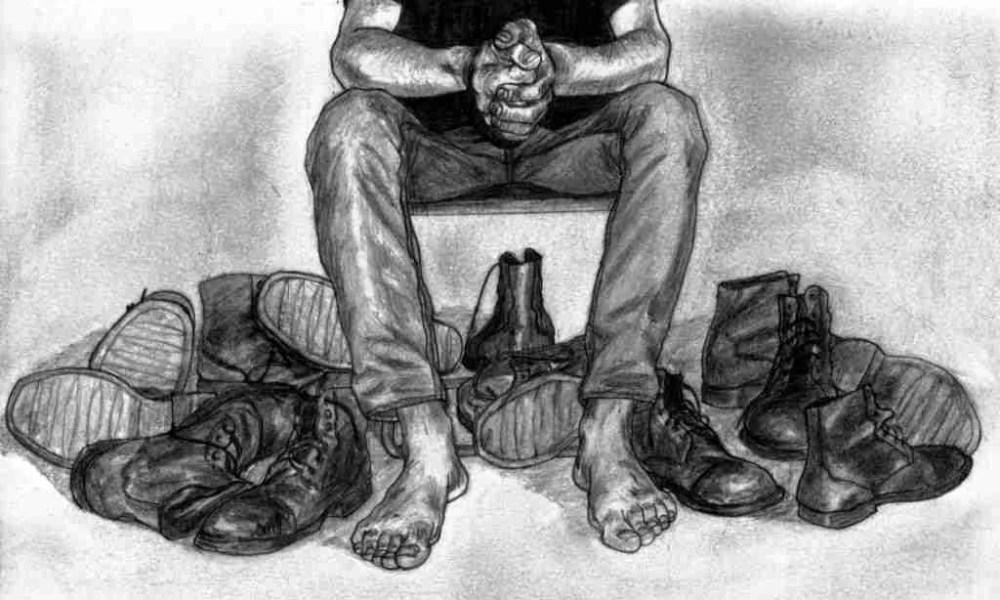 Hoy me voy a poner las botas. Dibujo de Javi Lara