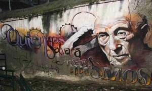 Quién nos salvará de nosotros mismos. Graffiti de El niño de las pinturas.