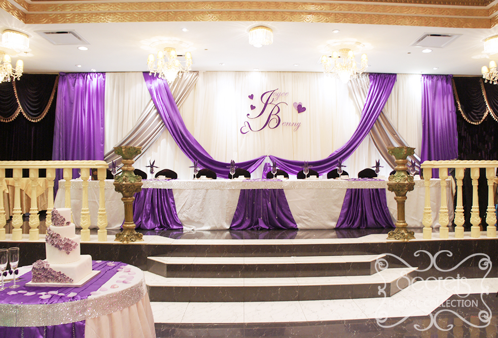Beautiful A Crystallized Royal Purple And Silver Wedding Reception
