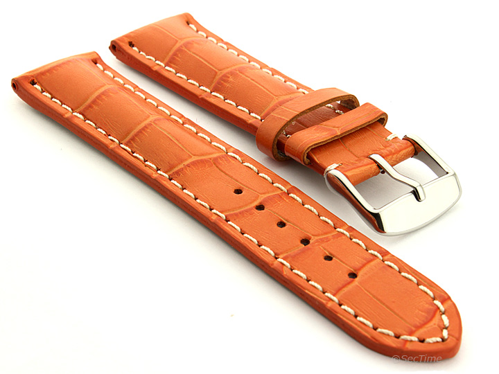 Men39s Genuine Leather Watch Strap Band Vip Alligator Grain