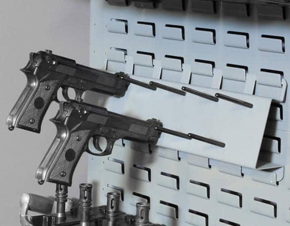 Pistol Peg Rack Secureit Gun Storage & Pistol Storage Rack - Listitdallas