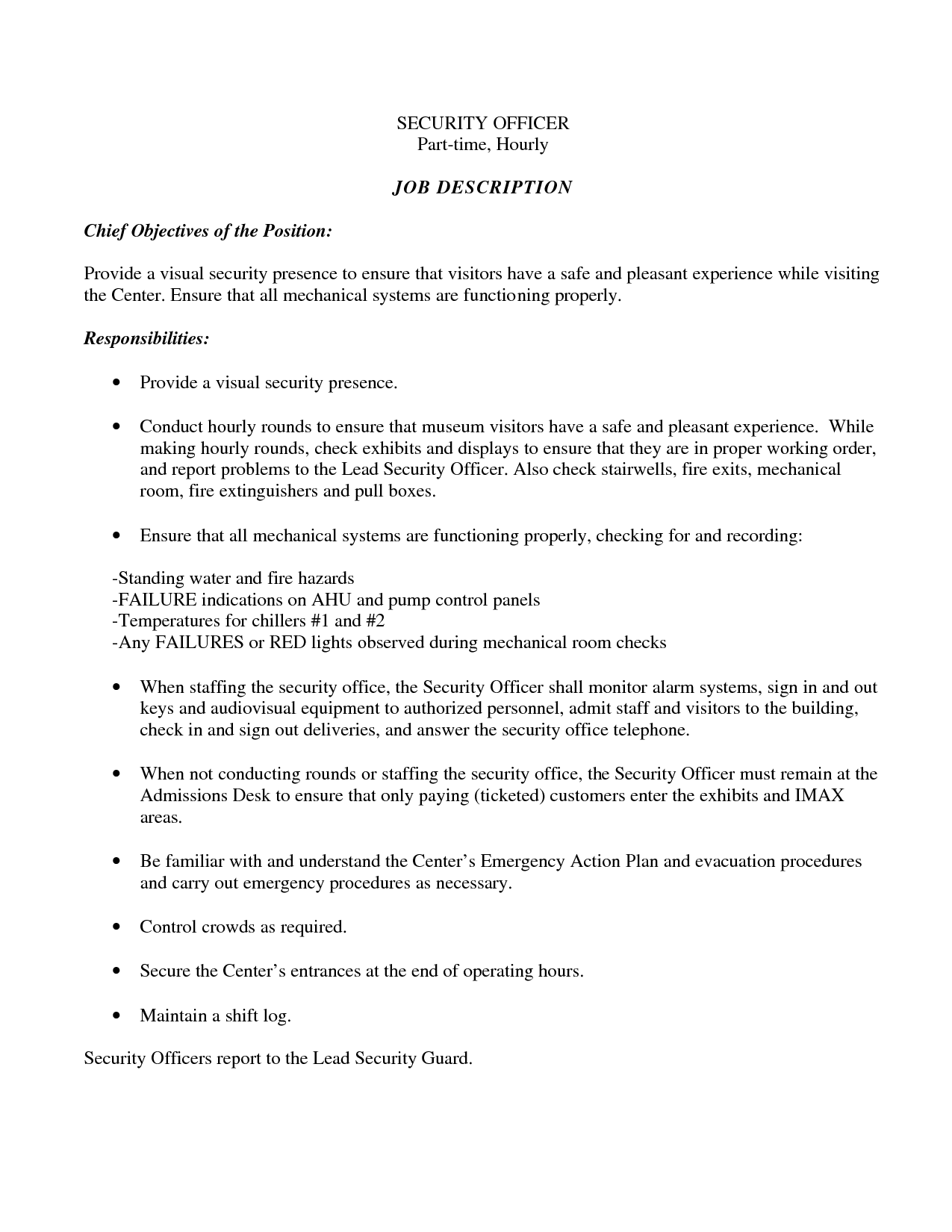 Law Enforcement Objective For Resume example career objective resumes template Cover Letter Security Leading Law Enforcement Security Cover Letter Examples Resources Myperfectcoverletter Security Guard Job Experience