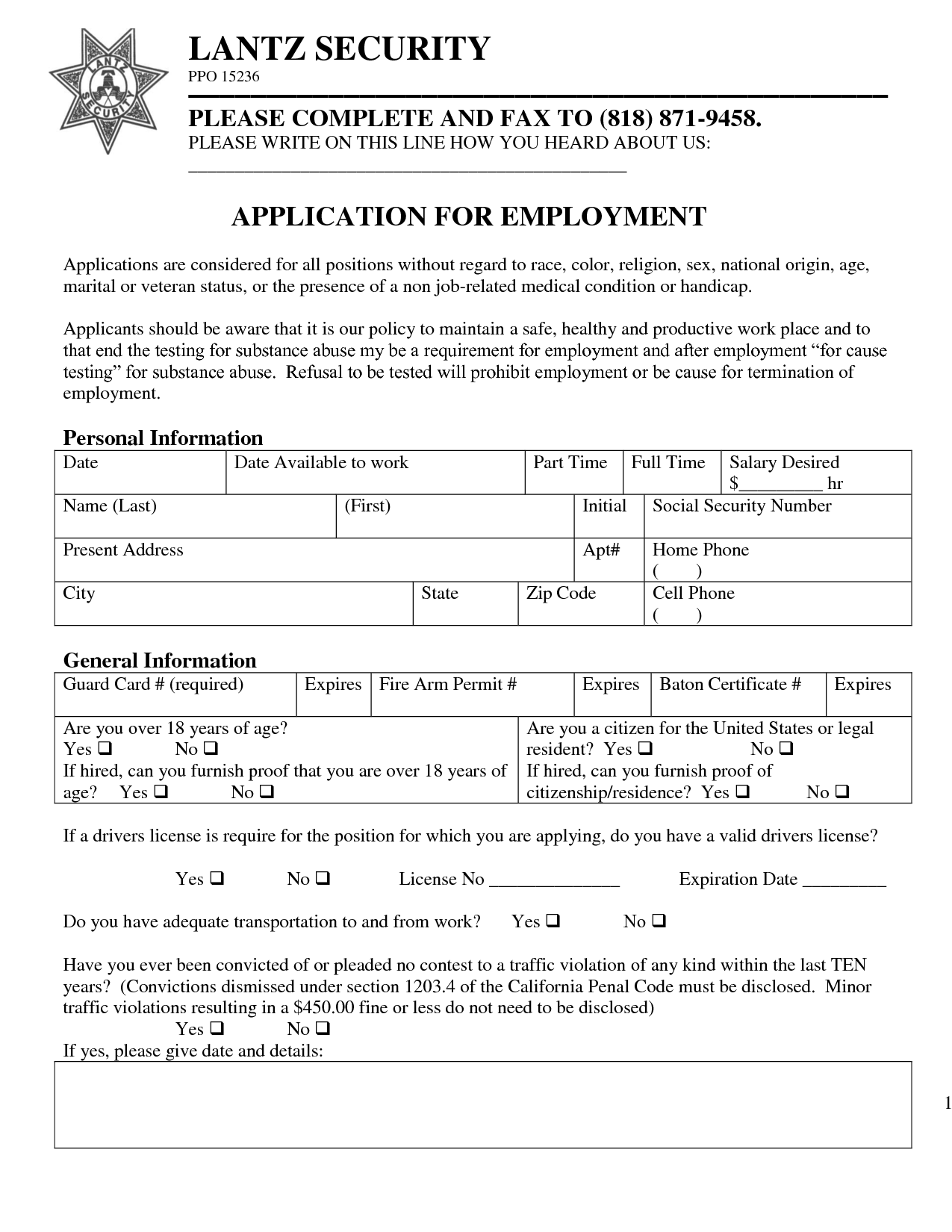 application for employment as a - Kubre.euforic.co