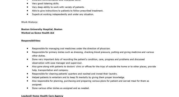 Cna Job Description Job Description Of Certified Nursing Assistants