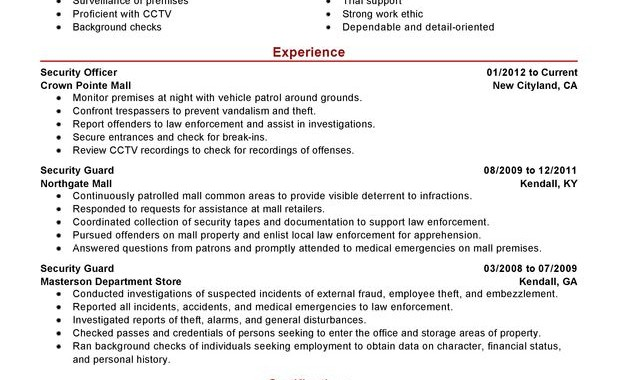 Mall Security Officer Job Description - Security Guards Companies